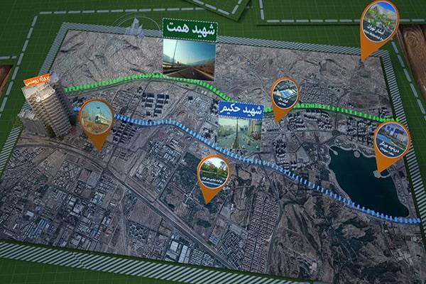 موقعیت پروژه رومنس تهران